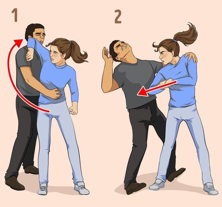 طرق الدفاع عن النفس للبنات - في حالة الهجوم الجانبي