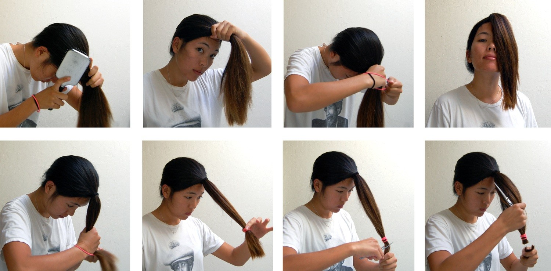 طريقة قص الشعر مدرج بالمنزل بالصور