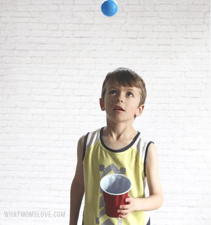 العاب حركية للاطفال عمر 4 سنوات - لعبة التقاط الكرات