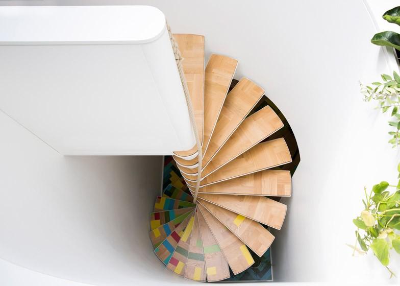 تصاميم سلالم داخلية مساحات صغيرة - السلالم الحلزونية