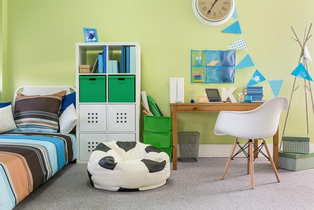 بالصور ديكورات لغرف نوم أطفال أولاد باللون الاخضر - دهان الحوائط بالأخضر