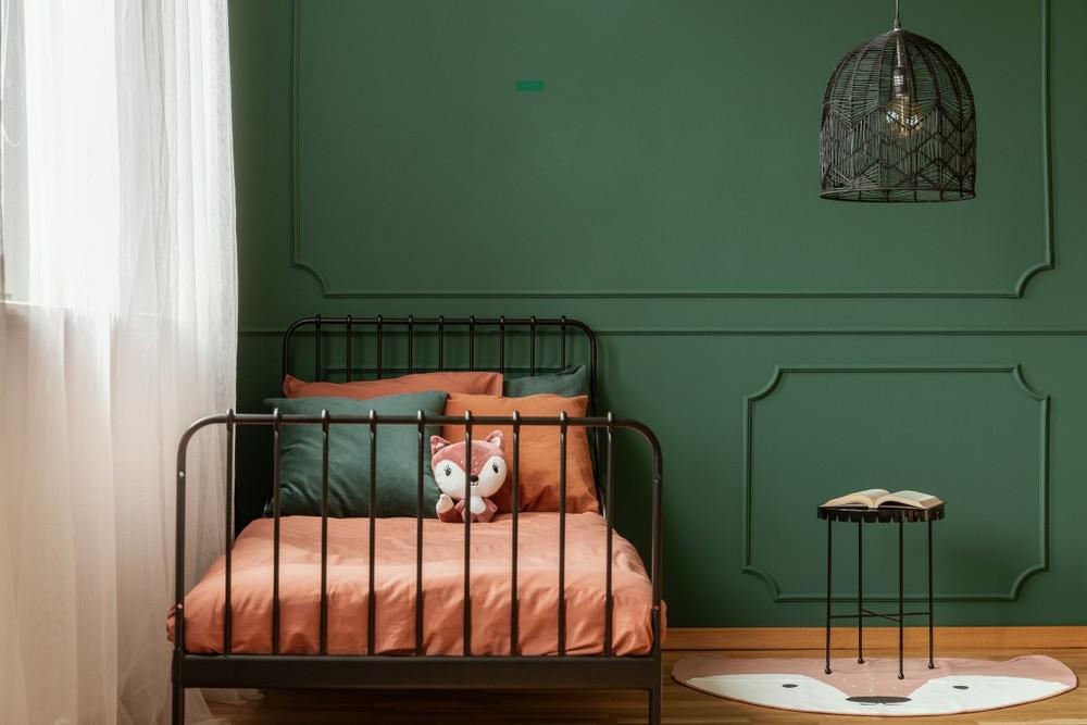بالصور ديكورات لغرف نوم أطفال أولاد باللون الاخضر - غرفة نوم بالأخضر للمراهقين