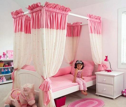 بالصور ديكورات غرف نوم أطفال بنات باللون الوردي - غرفة نوم الأميرات