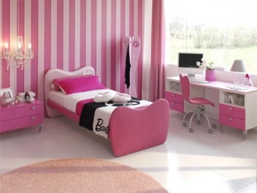 بالصور ديكورات غرف نوم أطفال بنات باللون الوردي - غرفة نوم باربي