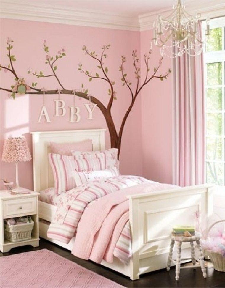 بالصور ديكورات غرف نوم أطفال بنات باللون الوردي - غرفة نوم وردي ساحرة