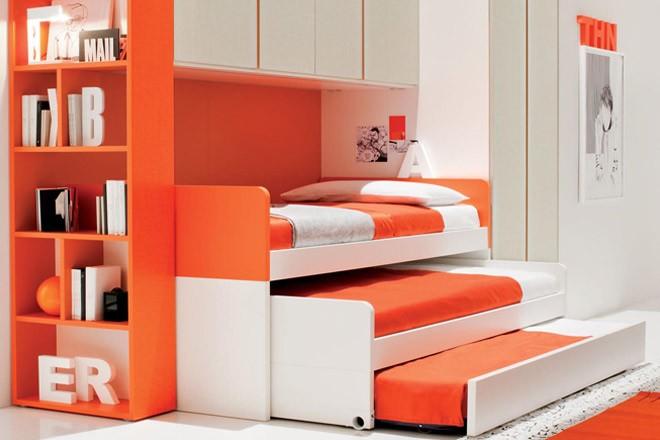 أشكال غرف نوم أطفال ثلاث سراير - غرفة ثلاثية موفرة للمساحة
