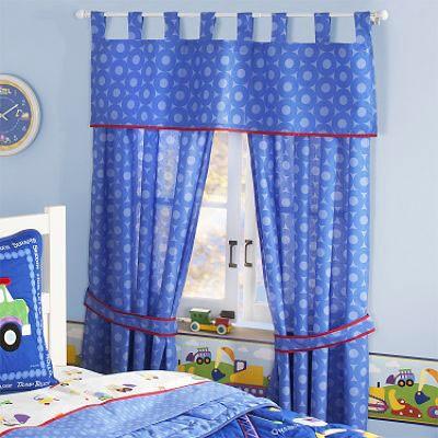 أشكال غرف نوم أطفال ثلاث سراير - ستائر باللون الأزرق لغرفة الأولاد