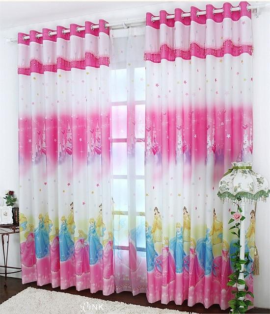 أشكال غرف نوم أطفال ثلاث سراير - ستائر باللون الوردي لغرفة الفتيات