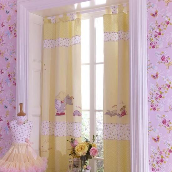 أشكال غرف نوم أطفال ثلاث سراير - ستائر خفيفة سهلة التنظيف