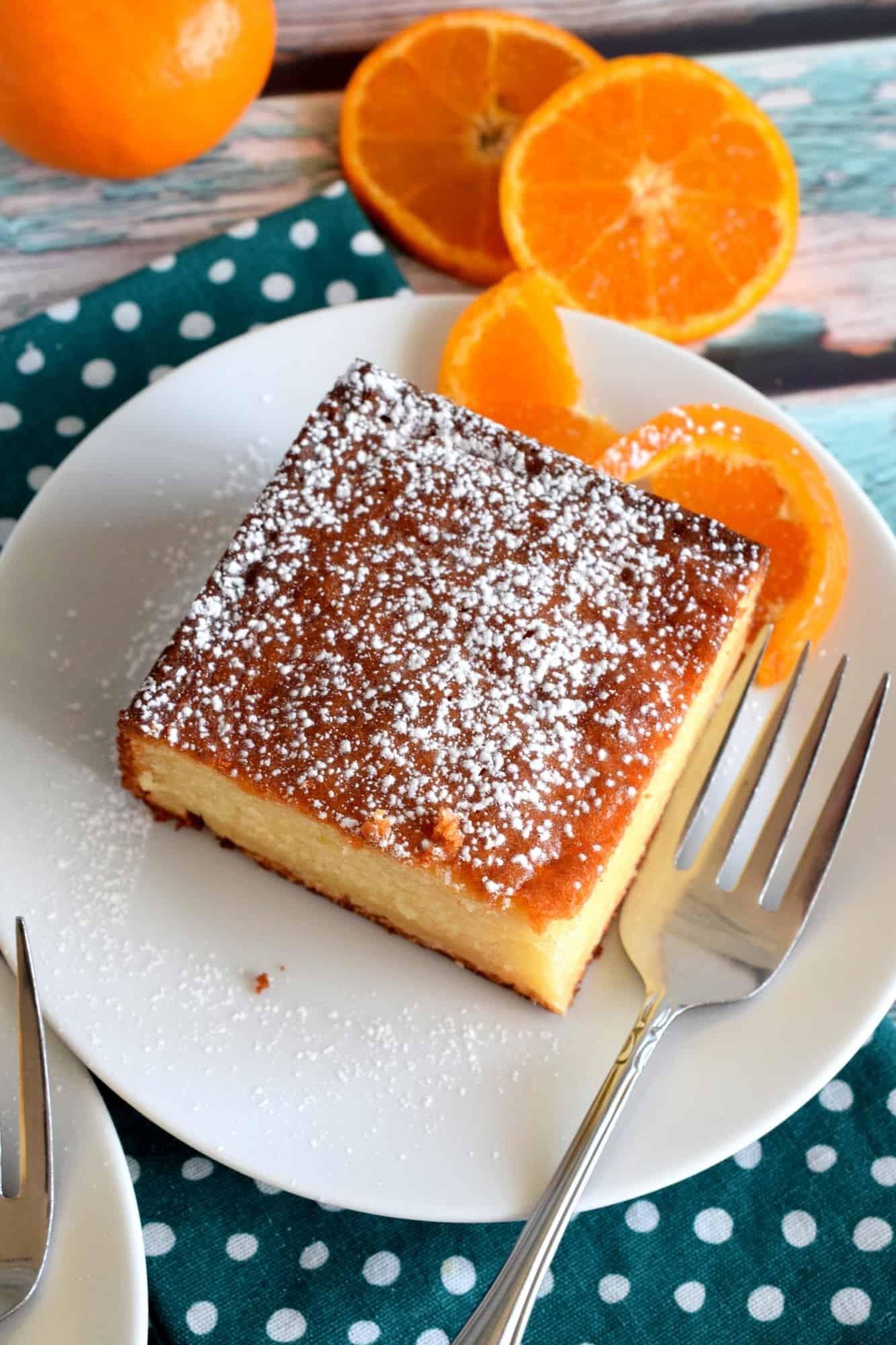 كيكة الزبادي 7 وصفات - كيكة الزبادي بالبرتقال