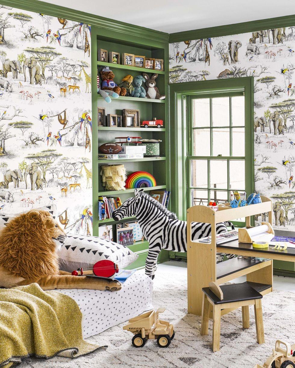 غرفة ألعاب أطفال - غرفة بنقوش الحيوانات