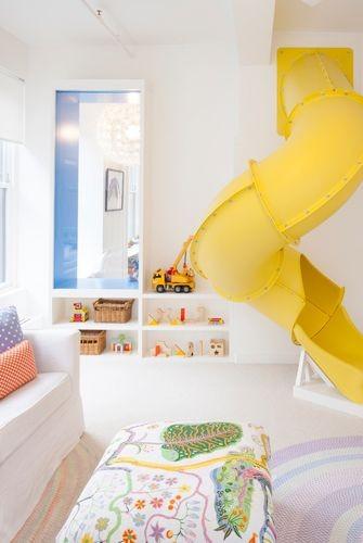 غرفة ألعاب أطفال - أنبوب انزلاق داخلي