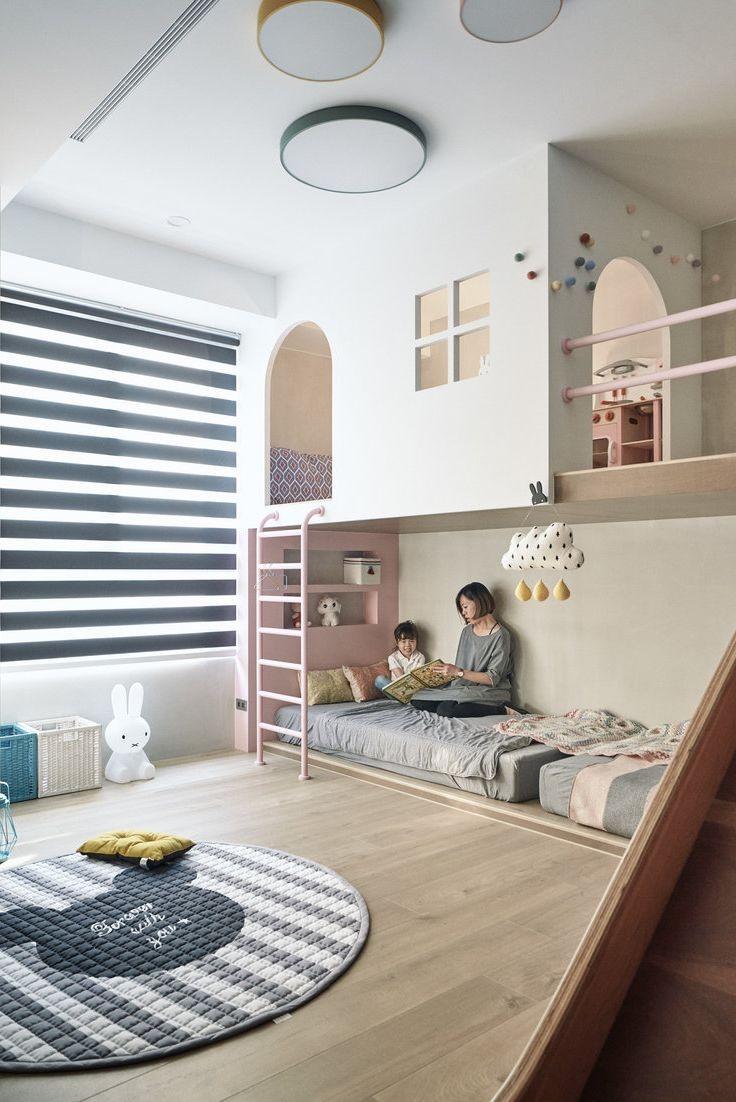 غرفة ألعاب أطفال - غرفة ألعاب مدمجة مع غرفة النوم