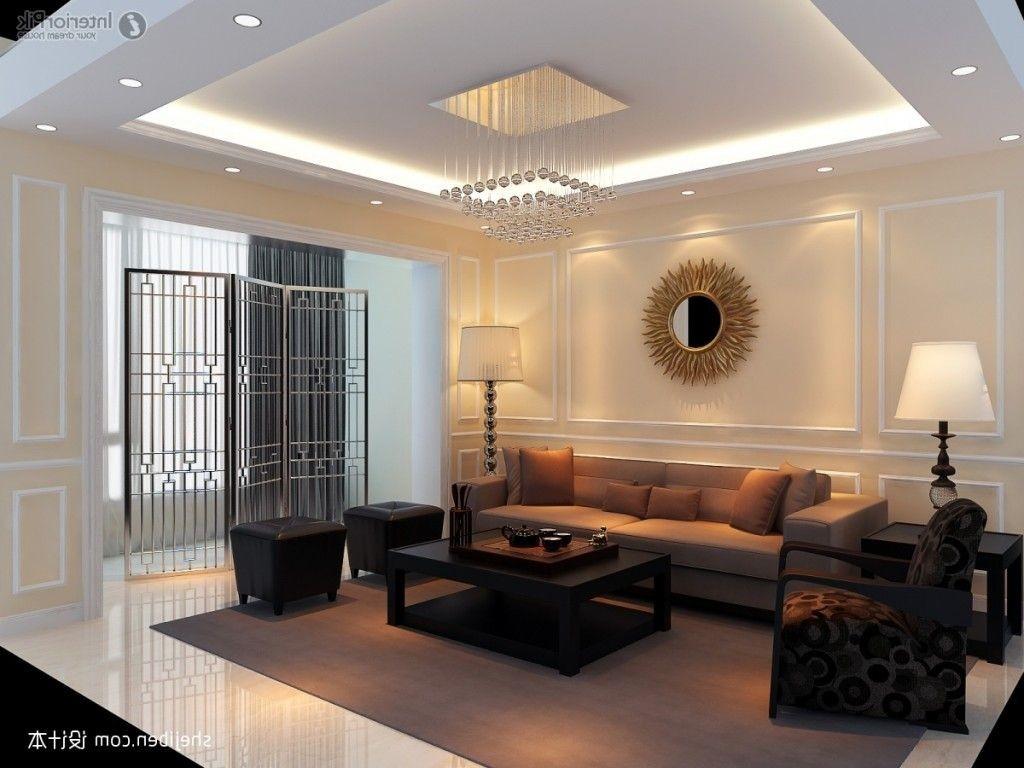 أشكال ديكورات أسقف جبس بسيطة - تصميم جبس للأسقف لغرفة المعيشة