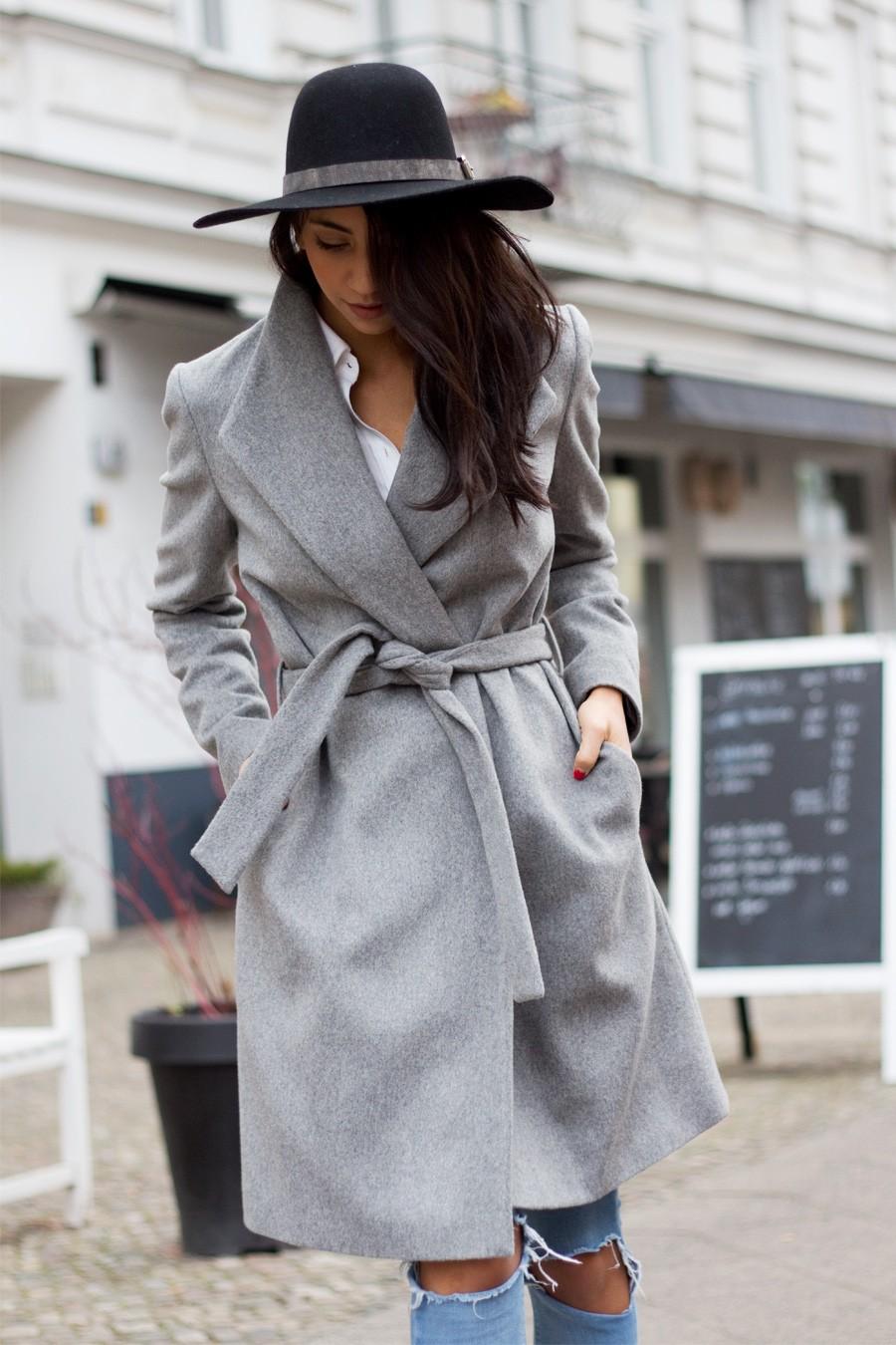 الجاكيت الشتوي - معطف شتوي بحزام