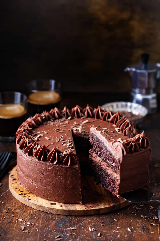 وصفات بالشوكولاتة - كيكة الشوكولاتة