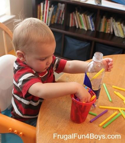 ألعاب منتسوري لعمر 6 شهور - الشفاطات الملونة