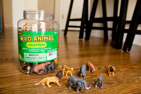 ألعاب منتسوري لعمر 6 شهور - مجسمات الحيوانات