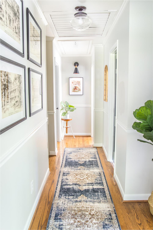تززيم ممرات المنززل - فرش سجادة