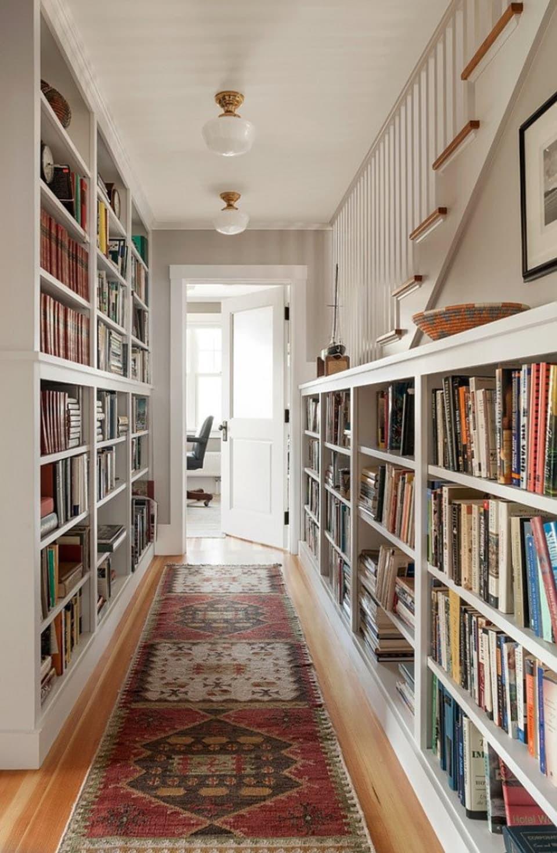 تزييم ممرات المنزل - مكتبة كتب