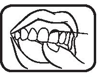 تنظيف الأسنان بالخيط - الخطوة الثالثة