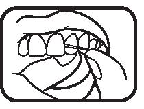 تنظيف الأسنان بالخيط - الخطوة الرابعة