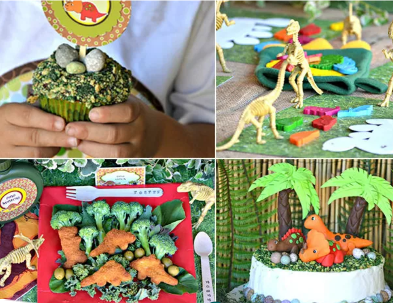 أفكار لعيد ميلاد الأطفال الأول - تورتة الديناصور