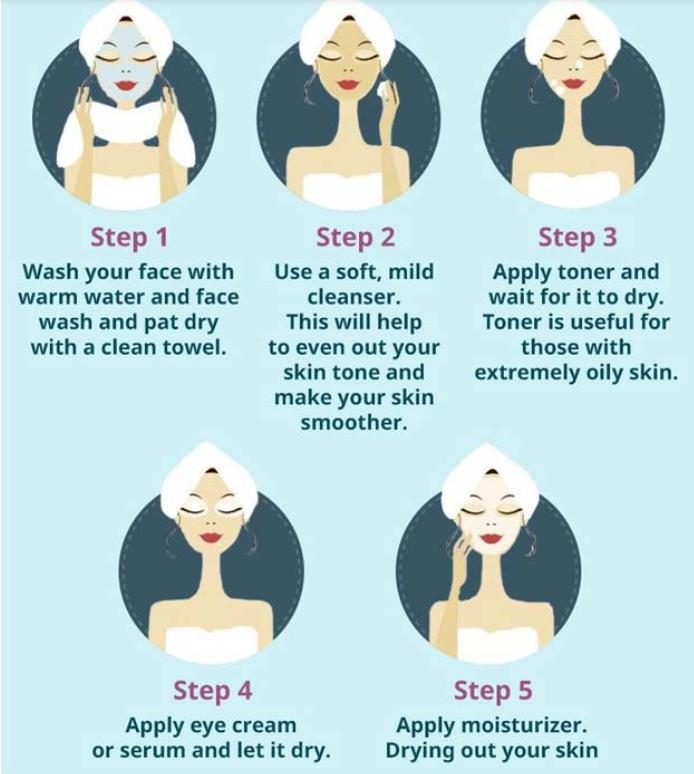 مكياج خفيف للبنات المراهقات - تنظيف الوجه