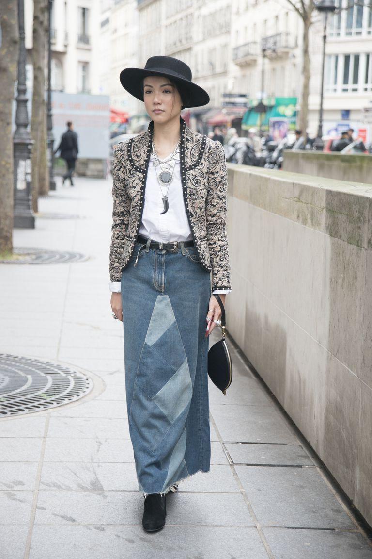 احدث موديلات الجيبات 2020 - جيبة جينز طويلة