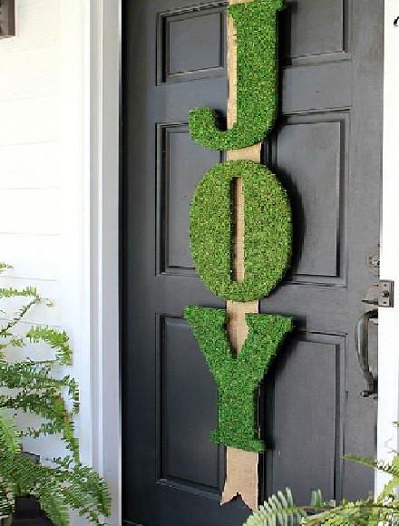 ديكور باب الشقة من الخارج - حروف