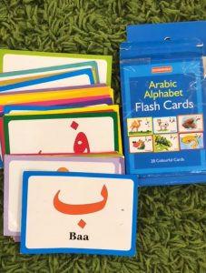 كيفية تعليم الطفل الكتابة لأول مرة - بطاقات الأبجدية العربية