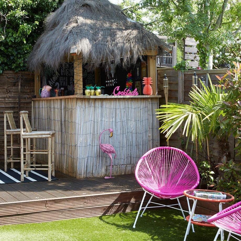 تصميم حديقة المنزل - غرفة خشبية بسيطة
