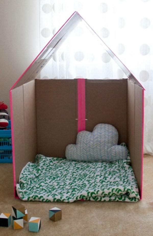 كيفية صنع منزل بالكرتون - منزل للاطفال