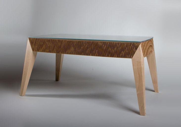 صنع اثاث المنزل بالكرتون - طاولة الشاي