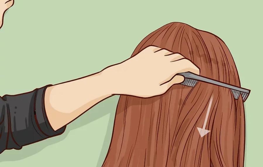 طريقة قص الشعر للأطفال - قص شعر البنات خطوة 1