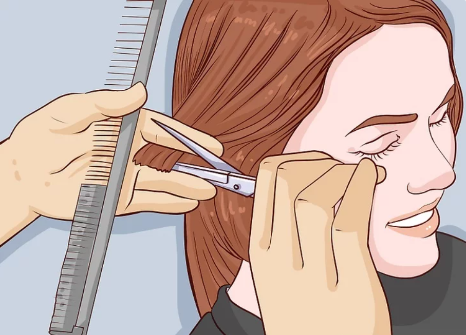 طريقة قص الشعر للأطفال - قص شعر البنات خطوة 3