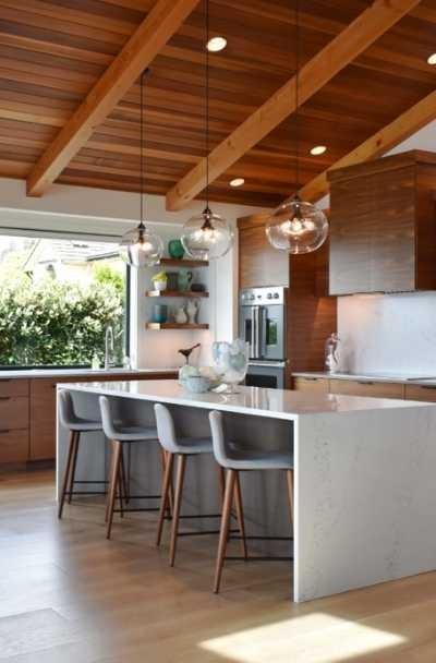 بالصور ديكورات للمطبخ باللون البنفسجي - الخشب