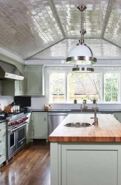 بالصور ديكورات للمطبخ باللون البنفسجي - طلاء السقف بلون مختلف