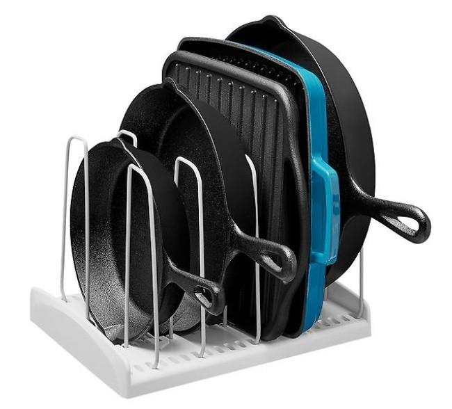 كيفية ترتيب مطابخ صغيرة - خزانة المقالي والاواني