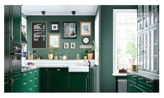 أشكال مطابخ ايكيا - مطبخ أخضر