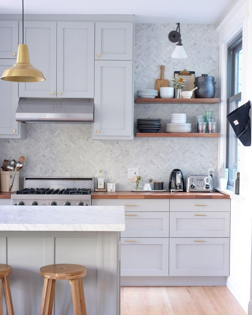 أشكال مطابخ ايكيا - مطبخ رمادي