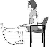 عملية تغيير مفصل الركبة-تمديد الركبة أثناء الجلوس
