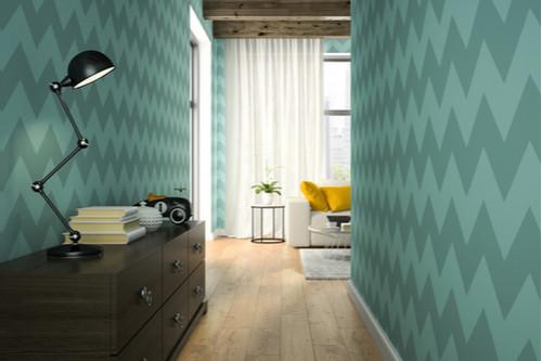 تزيين ممرات المنزل - ورق الحائط