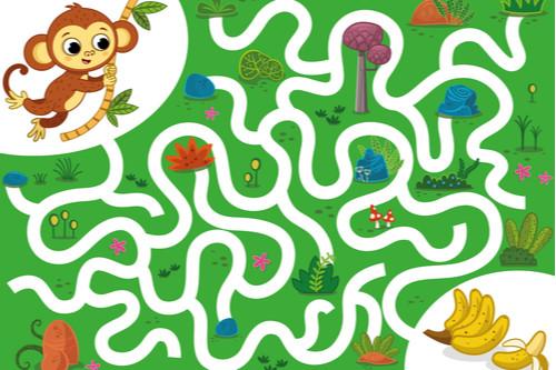 ألعاب تنمية المهارات العقلية للأطفال - المتاهة