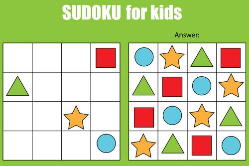 ألعاب تنمية المهارات العقلية للأطفال - السودوكو