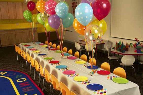 تزيين طاولة عيد ميلاد أطفال ـ فكرة بسيطة وغير مكلفة