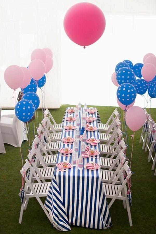 تزيين طاولة عيد ميلاد أطفال ـ تزيين الطاولة بالألوان المفضلة لطفلك