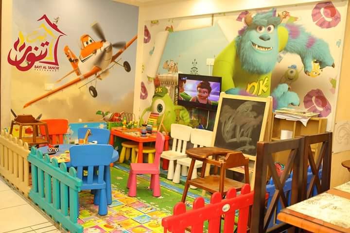 مطاعم فيها ألعاب أطفال ـ مطعم بيت التنور