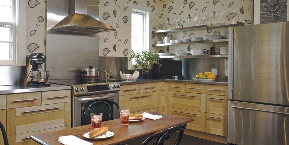 تغليف جدران المطبخ ـ ورق الحائط