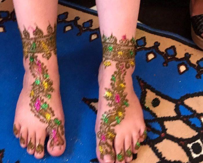 الحنة المغربية ـ الحناء مع الألوان
